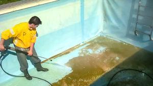 как очистить бассейн от известкового налета