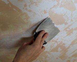 как очистить стену от краски