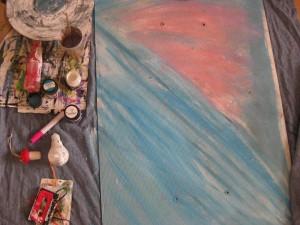 краски масляные цветные - детали