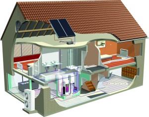 схемы отопления двухэтажного дома - нюансы