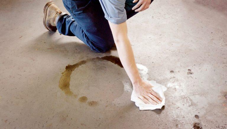 Удалить масляные пятна с бетона фото