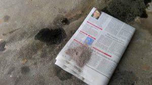 как удалить масло с бетонного пола