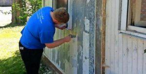 очистить стену от краски