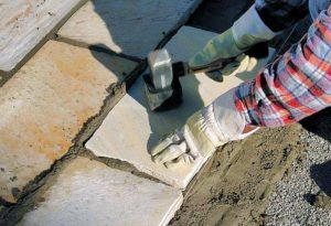 очистка природного камня от цемента